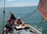 Sailing Nancy Blackett around the Solent