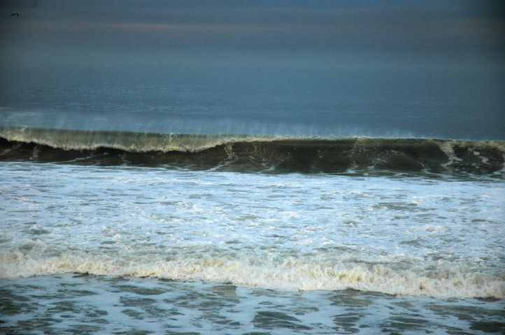 Waves breaking in Monterey Bay