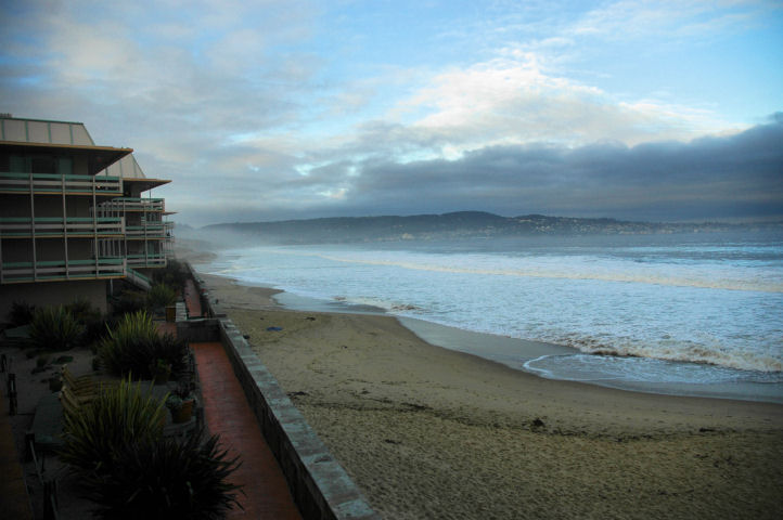 View from the hotel in Monterey Bay
