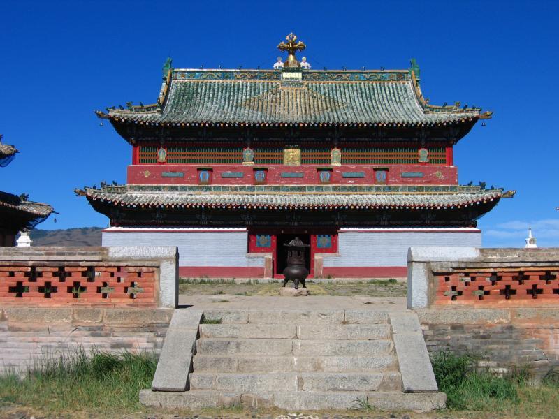 Central temple in Erdene Zuu