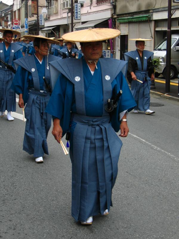 Warrior in kamishimo dress