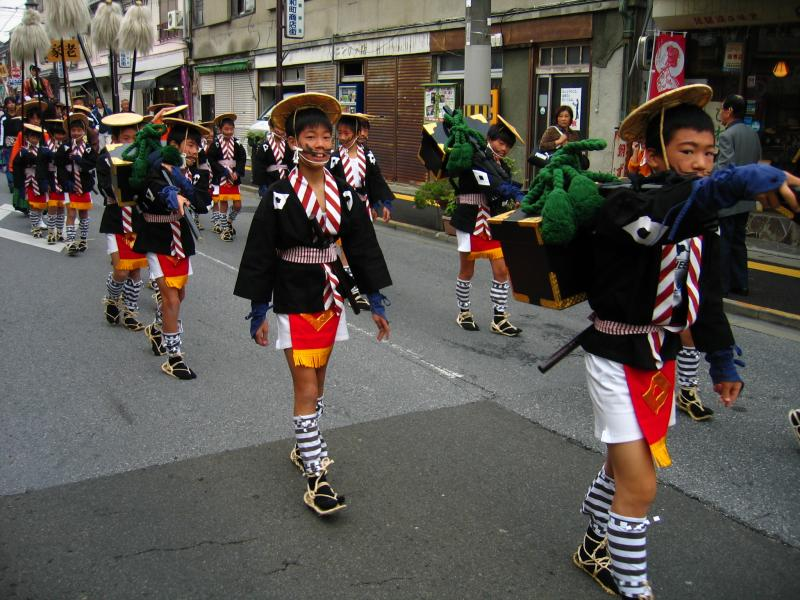 Young boys in traditional dress
