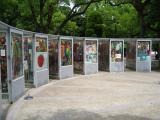 Paper cranes at the Children's Peace Memorial