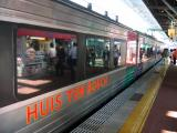 The train arrives