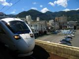 The train for Hakata arrives