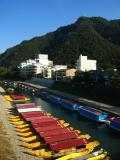 Ukai boats in winter storage