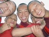 Happy Simtokha Monastery Monks at Chorten, @national memorial chorten during thimphu drubchen
