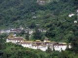 Trongsa (2300m) Trongsa means 'the new village' and the founding of Trongsa first dates from the 16th century, which is indeed relatively recent for Bhutan. It was the Drukpa lama, Ngagi Wangchuk (1517-54), the great grandfather of Shabdrung Nawang Namgyel, who founded the first temple at Trongsa in 1543. The landscape around Trongsa is spectacular, and for miles on the end the Dzong seems to tease you so that you wonder if you will ever arrive. The view extends for many kilometers and in the former times, nothing could escape the vigilance of its watchmen.