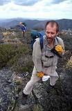 bl Tim and Jonno in Wind On Mt Kelly, Vertical.jpg