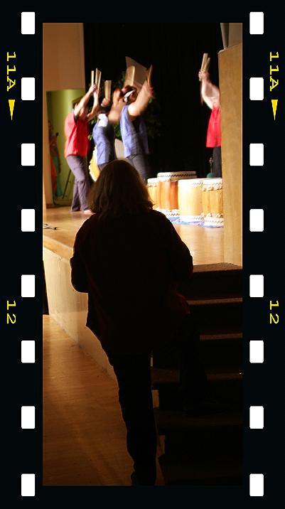 Susan Duncan ready to Photograph Taiko Drummers at ISU International Night DSCF0223.jpg
