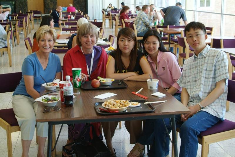 ELS ESL graduates and their teachers Mrs Call L and Grace Owens R DSCF0028.JPG