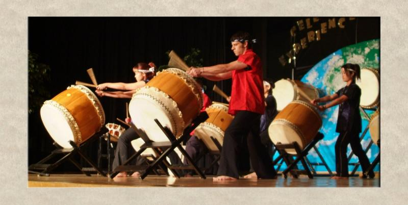Taiko Drummers at ISU International Night 2005 DSCF0203.jpg