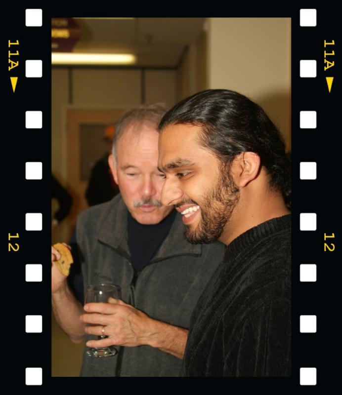 Danyal talking to Tom Forrest at Danyals Photo Exhibit DSCF0461.jpg