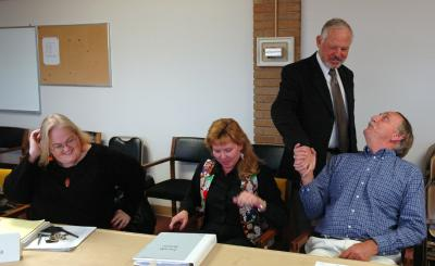 ISU Interim President Gallagher greeting Faculty Senators DSC_6924.jpg