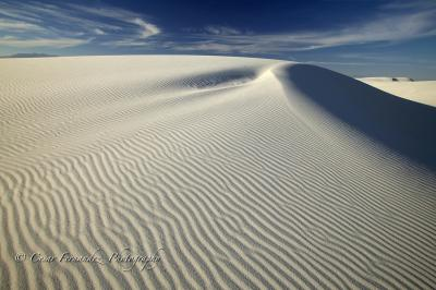 Dune at White Sands National Monument, New Mexico.