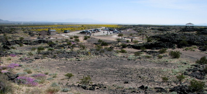 Over view of parking area