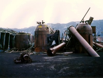 Whale Oil boilers Deception Island