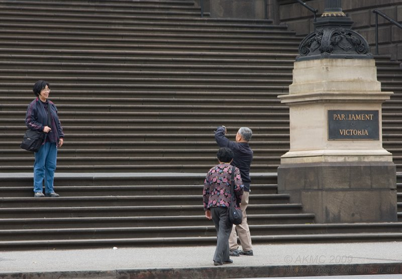 3436 - 09:23 A Kodak Moment On The Steps Of Parliament