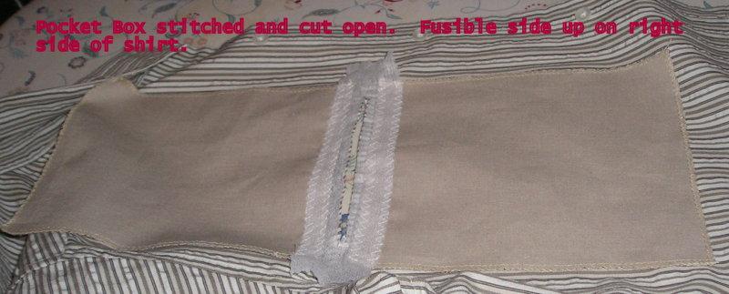 Pocket Box Sewn and Cut Open