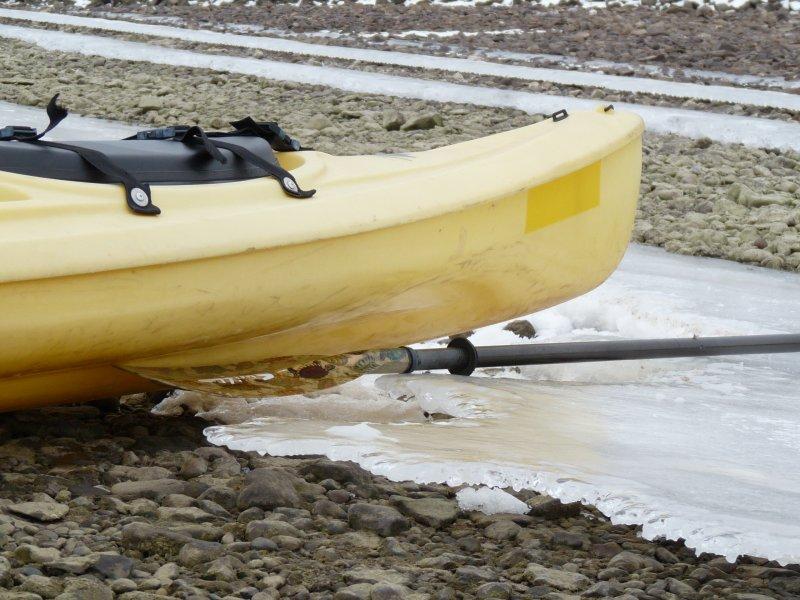 Kayak and ice