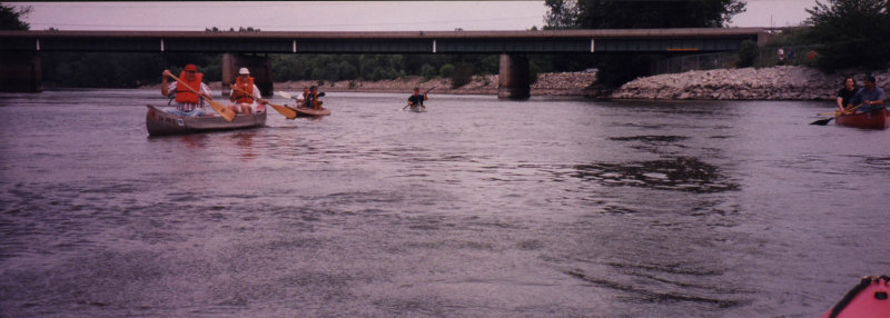 Paddlers below NW 66th bridge circa 1997