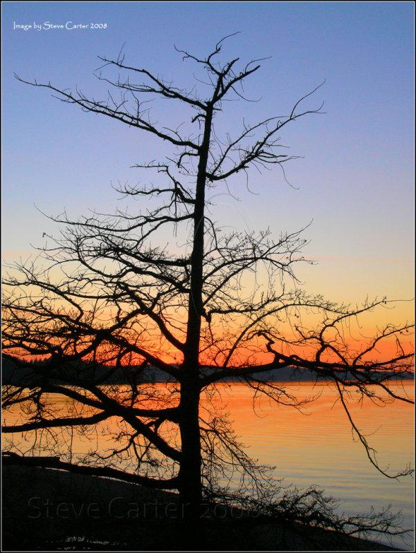 Winter Sunset at Steilacoom