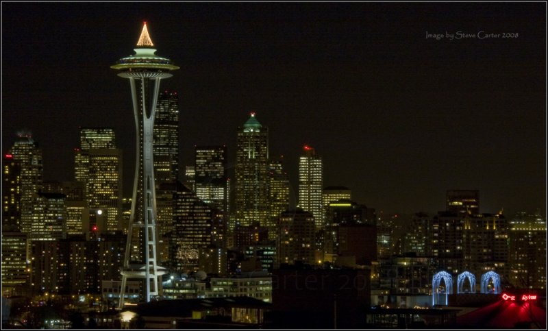 Holiday Space Needle