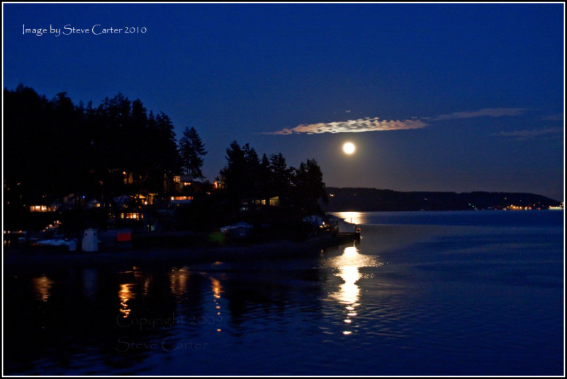 Moonrise in Gig Harbor