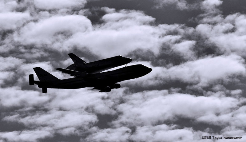 Shuttle Endeavour final flight over Sacramento