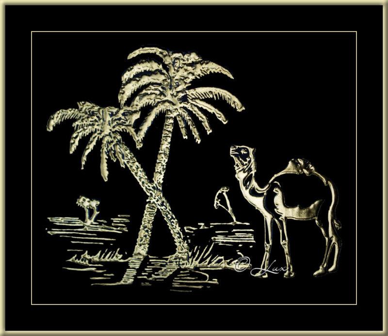 Camel & Dates Palms