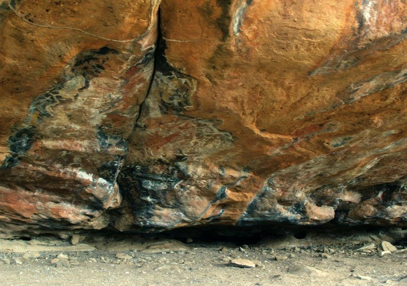 Rock overhang, with aboriginal painting