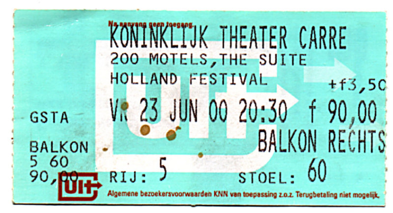 Zappa centraal tijdens het Holland Festival 2000