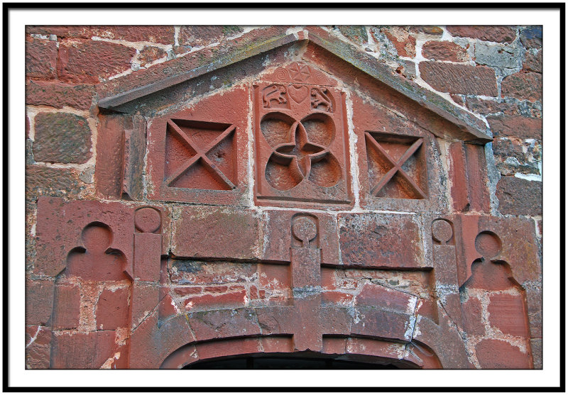 Detail of a house in Collonges la Rouge