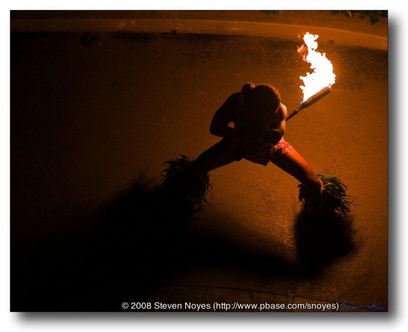 Fire Dance Prelude : Waikiki Sheraton : Oahu Hawaii