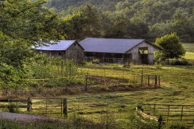Boxley Valley Sheds at Sunrise