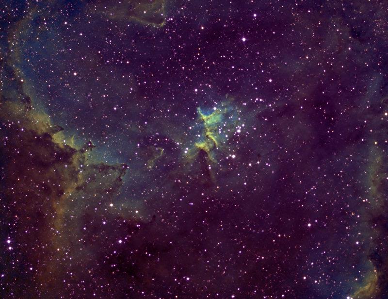 The Heart Nebula - IC1805 (HA-SII-HA-OIII/SBIG ST-8300M)