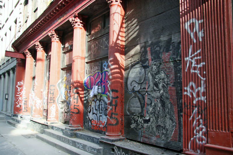 Neo Classical Columned Building & Grafitti