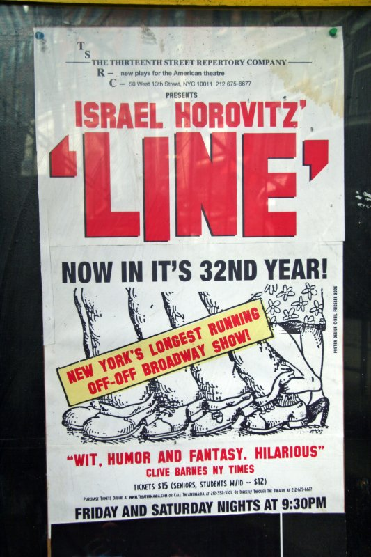 Israel Horowitzs Line Poster - 13th Street Theatre