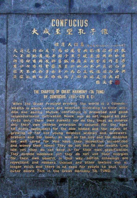 Confucius Monument Marker