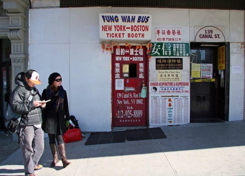 Fung Wah NYC to Boston Bus Station