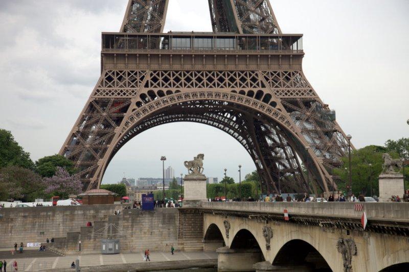 Eifel Tower on the base