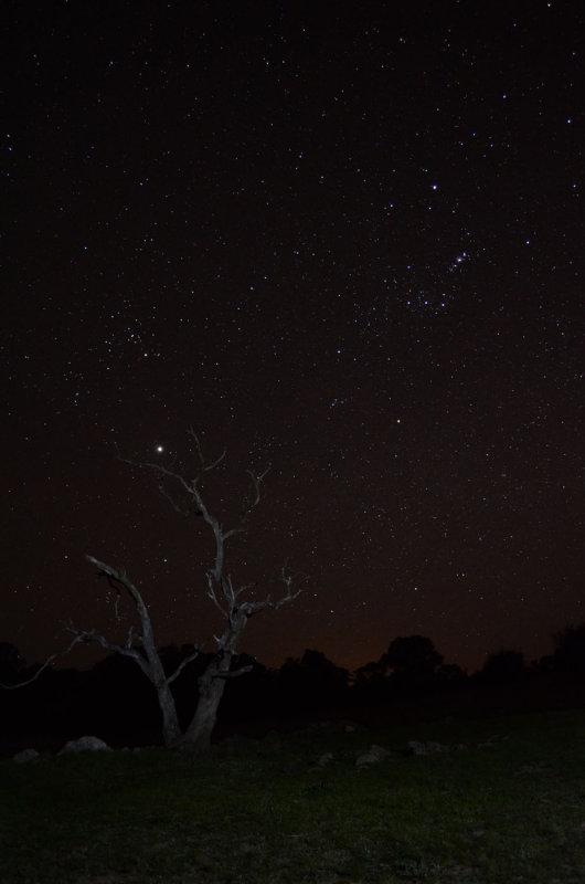 Jupiter and Orion