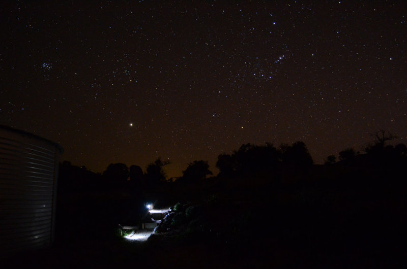 Observing area at night