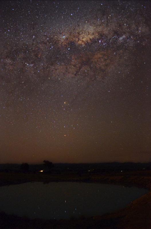 Milky Way over the dam