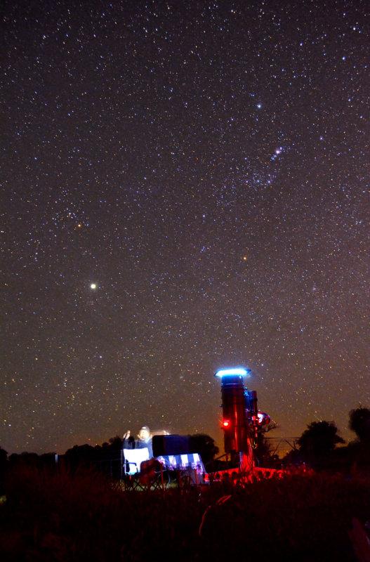 Taking flats under Orion and Jupiter