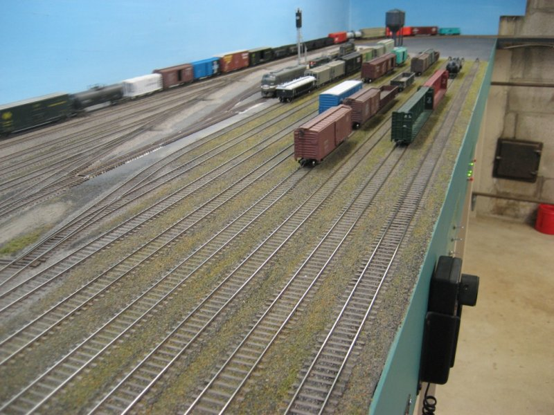 John used Central Valley track in the yard