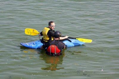 Kayaking on Lake Mendotta, Madison