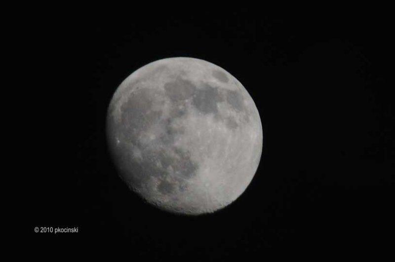 93% of Full Waxing Gibbous Moon