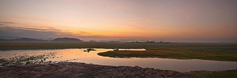East Alligator River at Sunrise Panorama