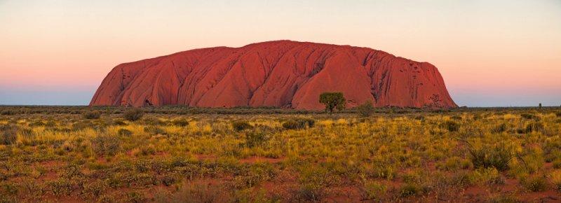 Uluru at dusk - fine art panorama